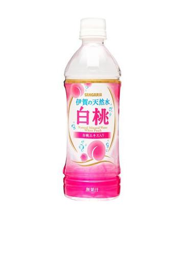 サンガリア 伊賀の天然水白桃 500ml