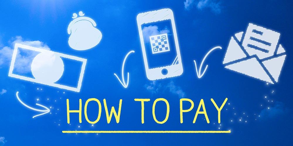 ご利用方法は簡単、お支払い方法は多様